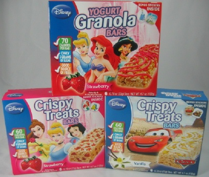 Disney Yogurt and Granola Bars
